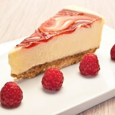 Cheesecake cu dulceata de fructe de padure